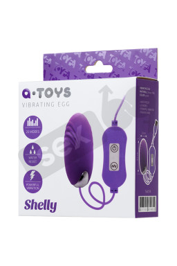 A-TOYS, Vibro egg 'Shelly', with control panel, silicone, violet