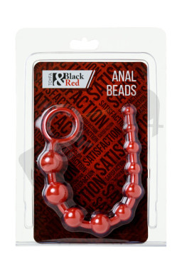 Black & Red, Anal chain, waterproof, PVC, red, 31 cm, O 2.3 cm